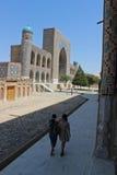Ubekistan,撒马而罕 库存照片
