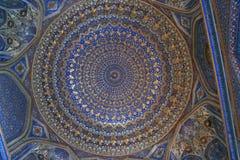 Ubekistan, het mozaïek van Samarkand stock foto's