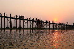 Uben Bridge, Amarapura Royalty Free Stock Image