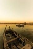 Ubeng rzeka Myanmar zdjęcia stock