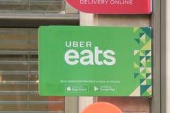 Uber吃 免版税库存图片