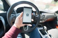 Uber应用 免版税图库摄影