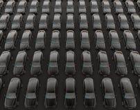 Uber car endless fleet concept Stock Images