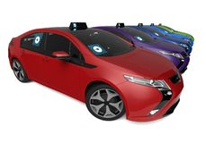 Uber car fleet concept Stock Photography
