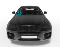 Uber car front view illustration stock illustration