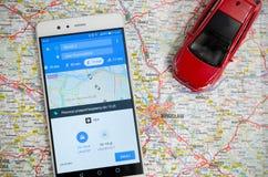 Uber die de economiedienst in Wroclaw delen Stock Afbeelding
