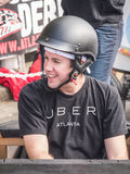 Uber Driver for Red Bull Soapbox Race royalty free stock photo