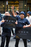 Uber drivers protest Royalty Free Stock Photo