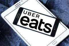 Free Uber Eats Food Delivery Logo Royalty Free Stock Photos - 121287318