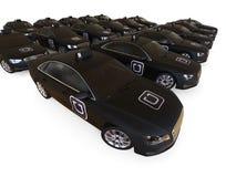 Uber fleet concept Stock Photos