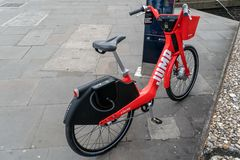 Uber Jump Bicycle in London stock photos