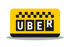 Uber - ride sharing service as alternative transportation to taxi royalty free stock photo