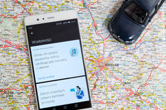 Uber sharing economy service in Wroclaw Stock Photography