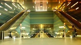 Uberseequartier underground train station, in Hamburg stock video footage