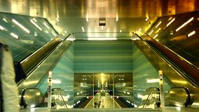 Uberseequartier underground train station, in Hamburg. HAMBURG, GERMANY: Uberseequartier underground train station, in Hamburg Speicherstadt and Hafencity stock video
