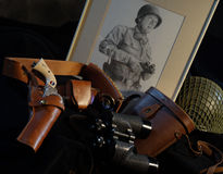 Uberti Patton Commemorative Royalty-vrije Stock Afbeeldingen