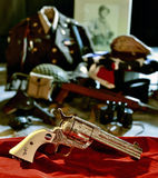 Uberti Patton Commemorative revolver. Factory engraved, silver plated Uberti Special Limited Collectors General George S. Patton Commemorative Edition, 4 3/4 Royalty Free Stock Photo