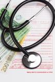 Ubezpieczenia zdrowotnego żądania forma Obraz Royalty Free