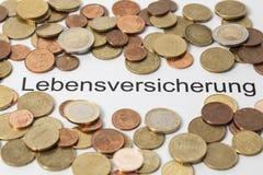 Ubezpieczenie na życie niemiec zdjęcia stock