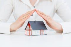 Ubezpieczenie ochrony Domowy pojęcie Obrazy Royalty Free