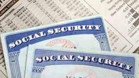 Ubezpieczenie Społeczne i emerytura dochód Fotografia Stock