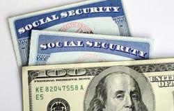 Ubezpieczenie Społeczne i emerytura dochód Fotografia Royalty Free
