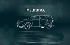 Ubezpieczenie z samochodem ilustracji