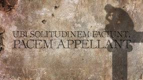 Ubi solitudinem faciunt, pacem appellant. Latin phrase. Ubi solitudinem faciunt, pacem appellant. Latin phrase meaning They make a desert and call that peace Royalty Free Stock Images