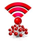 Ubicación de la radio de Wifi Imagen de archivo