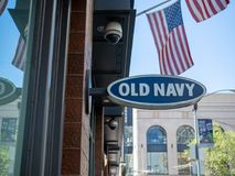 Ubicación de la tienda exterior fijada muestra de Old Navy foto de archivo libre de regalías