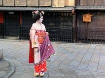 Ubierać Maiko, Gion Kyoto Japonia Zdjęcie Stock