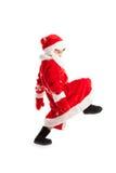 Ubierający jako Święty Mikołaj mały dziecko Obrazy Royalty Free
