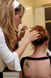 ubieramy 4 fryzjerka włosów Fotografia Stock
