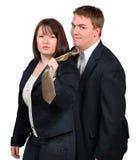 ubioru biznesowi pary potomstwa zdjęcie royalty free