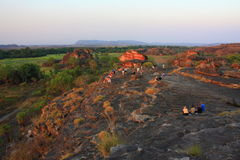 Ubirr, kakadu nationaal park, Australië Stock Afbeelding