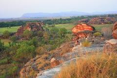 Ubirr kakadunationalpark, Australien Arkivbilder