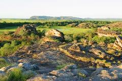 Ubirr Kunst-Site und Ausblick. Kakadu Australien Stockbild