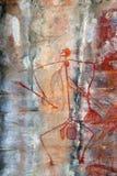 Ubirr Mabuyo rock art. Ancient Mabuyo rock art in Ubirr, Australia Stock Image