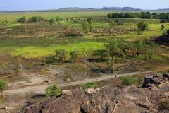 Ubirr, parco nazionale di kakadu, Australia Immagine Stock