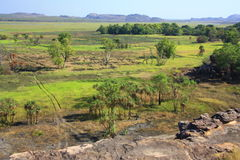 Ubirr, parco nazionale di kakadu, Australia Fotografie Stock Libere da Diritti
