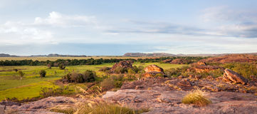 Ubirr vaggar panorama - det nordliga territoriet, Australien arkivfoto