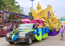 Ubon Candle Festival 2015 Royalty Free Stock Images
