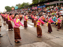 Ubon Ratchathani Candle Festival Royalty Free Stock Images