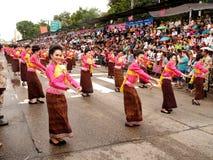 Ubon Ratchathani stearinljusfestival royaltyfria bilder