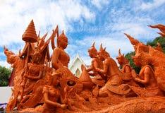 UBON RATCHATHANI THAILAND - Juli 25: Arkivbild