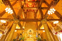 Ubon Ratchathani, Thailand. March 18, 2018. : golden buddha in t Royalty Free Stock Photography