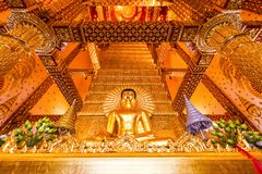 Ubon Ratchathani, Thailand. March 18, 2018. : golden buddha in t Royalty Free Stock Photos