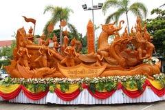 Ubon Ratchathani świeczki festiwal TAJLANDIA, Lipiec, - 25: Obraz Royalty Free