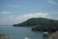 Ubonrat水坝, Khonkaen,泰国 免版税库存照片