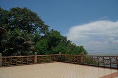 Ubonrat水坝, Khonkaen,泰国 免版税图库摄影